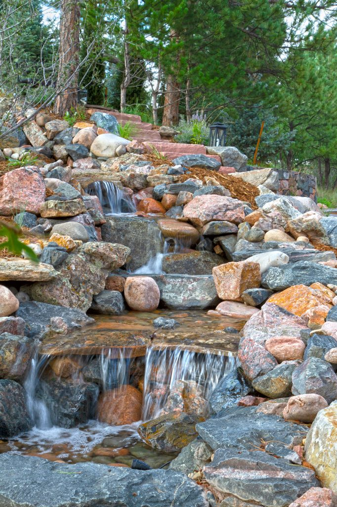 Pond-free waterfall created by Art of the Yard