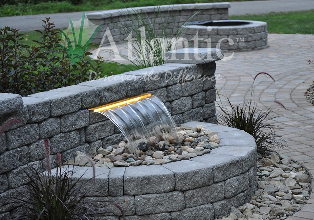 Find A Contractor >> Galleries | Formal Spillways | Atlantic Water Gardens