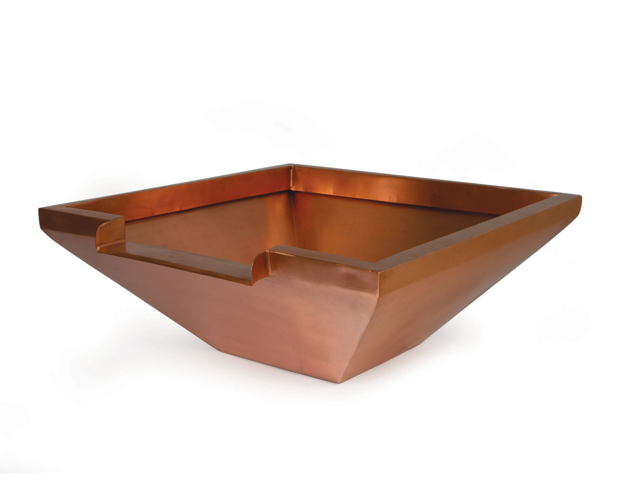 "26"" Square Copper Bowl w/ 12"" Spillway"