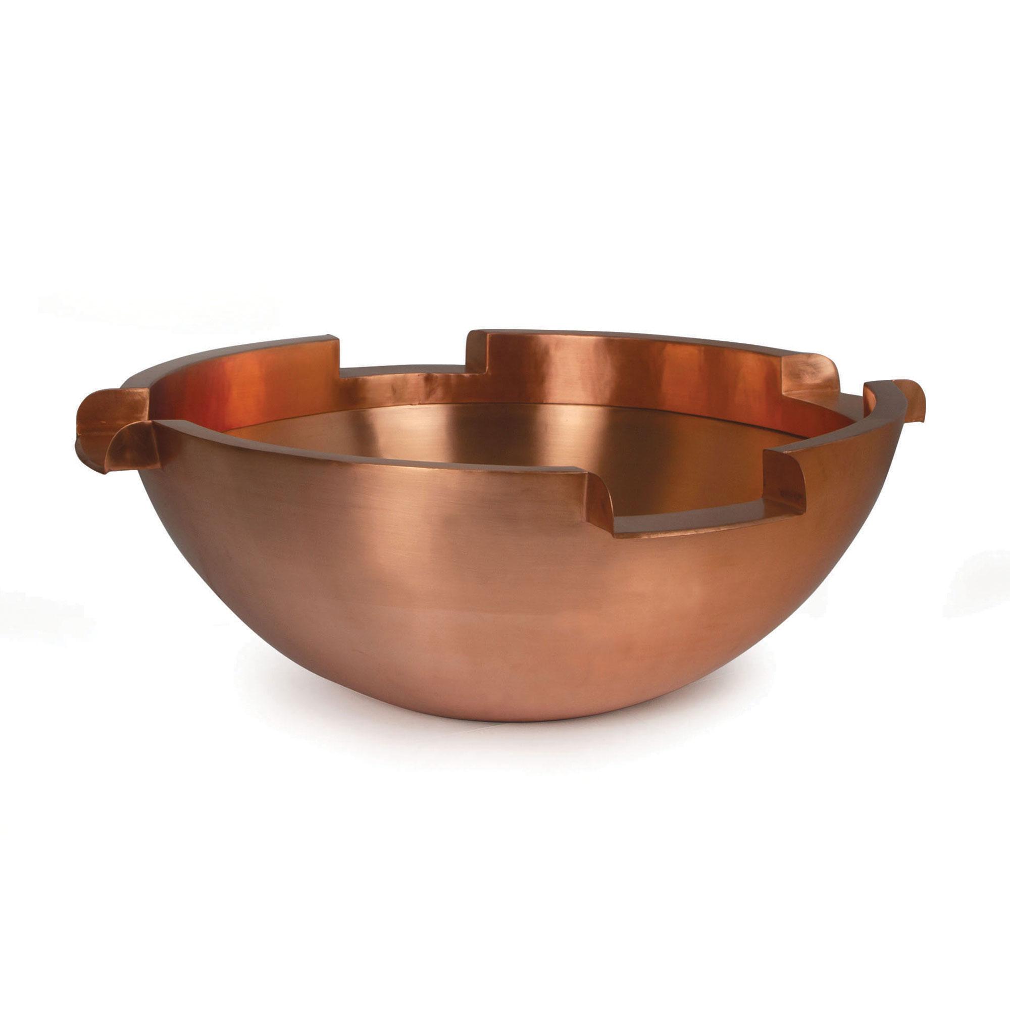 """26"""" Copper Bowl w/ (4) 6"""" Spillways"""